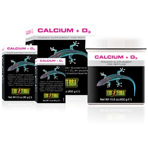 Exo Terra Calcium Powder + D3 40gm